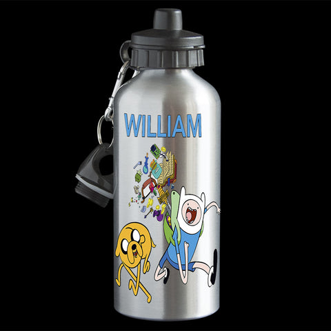 Personalised Adventure Time Water Bottle, Finn and Jake drink bottle