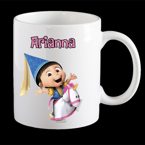 Personalised Agnes Despicable Me Coffee Mug, Agnes kids personalised cup