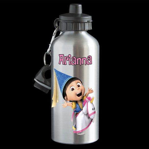 Personalised Agnes Water Bottle, Despicable Me Agnes drink bottle