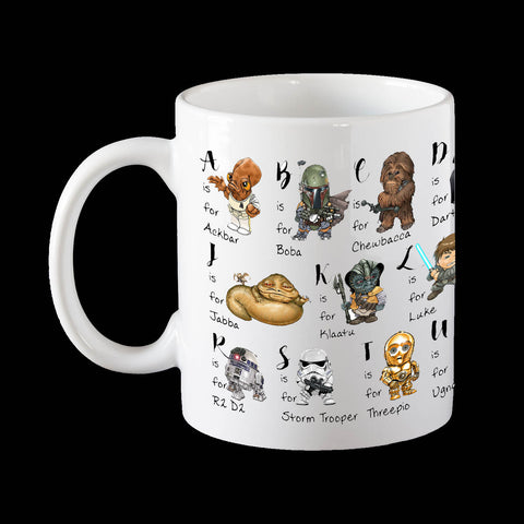 Star Wars Alphabet Coffee Mug
