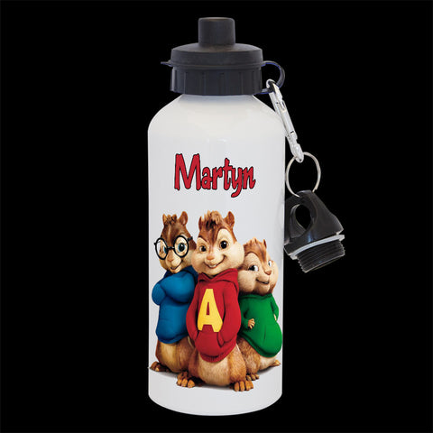 Alvin and the Chipmunks personalised drink bottle