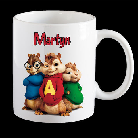 Personalised Alvin and the Chipmunks coffee mug