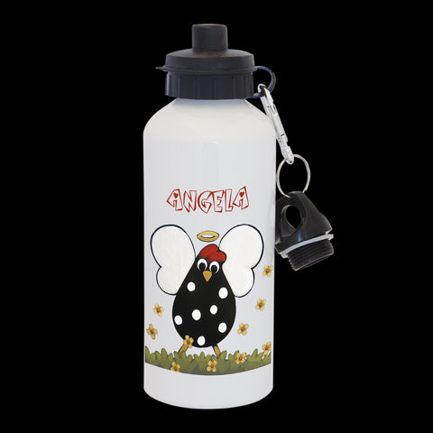 Personalised Angel Chicken Water Bottle