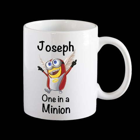 Personalised kids melamine Minion Angel Mug