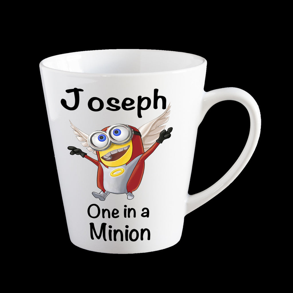 "Personalised ""One in a minion"" coffee mug with X-men Angel Minion"