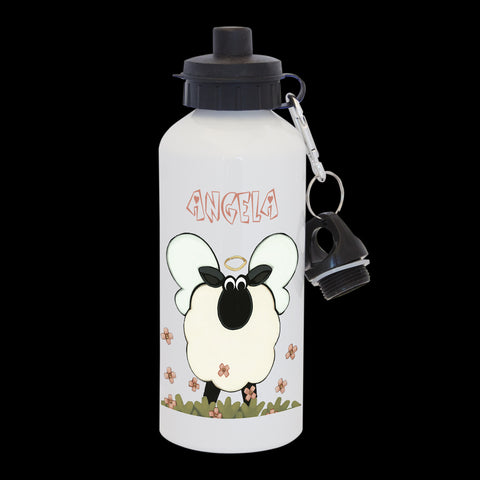 Personalised Angel Sheep Water Bottle