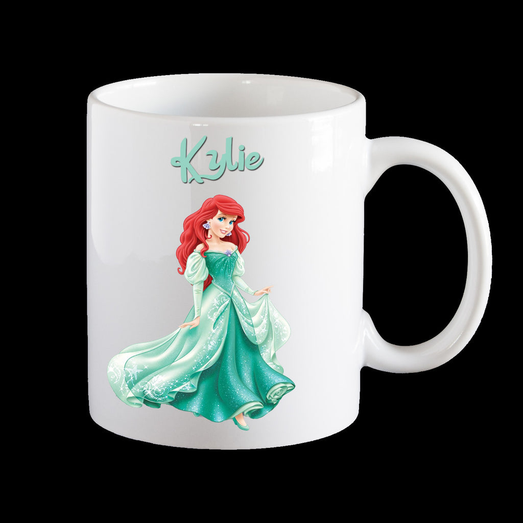 Personalised kids melamine Mug, Princess Ariel