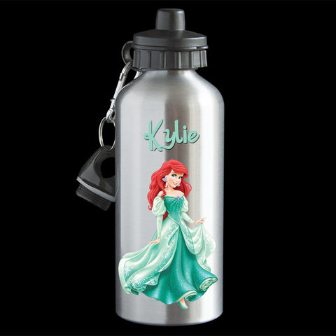 Personalised Ariel Water Bottle, Disney Princess Ariel Drink Bottle