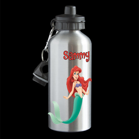 Personalised Ariel Mermaid Water Bottle