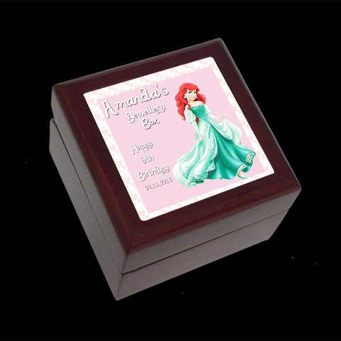 Small Jewellery Box, Ariel Little Mermaid Disney Princess Personalised Jewellery Box