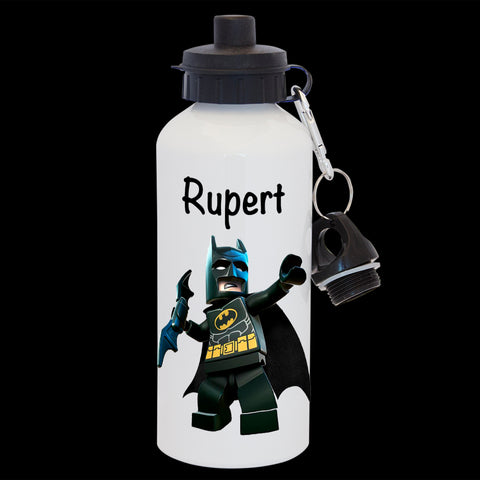 Personalised Batman Lego Water Bottle, Batman kids Drink Bottle