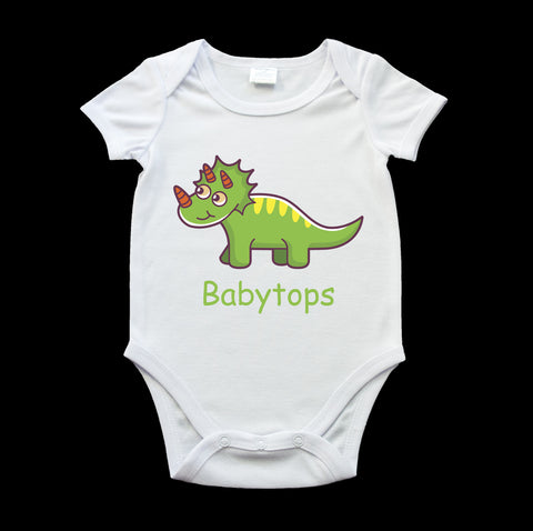 Babytops dinosaur cute baby onesie, boy birth gift, new baby gift