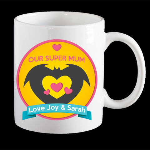 Super BatMum Mug, Personalised Mother's Day Coffee Mug, Mum Mug, Mother's Day gift idea
