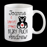 funny Valentines Day mug, I love you beary much