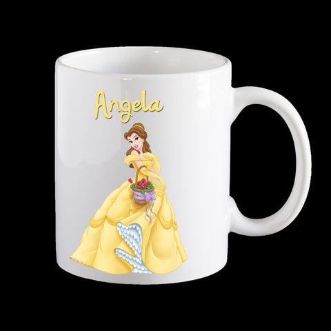 Personalised Belle Mug, Disney Princess Belle Mug