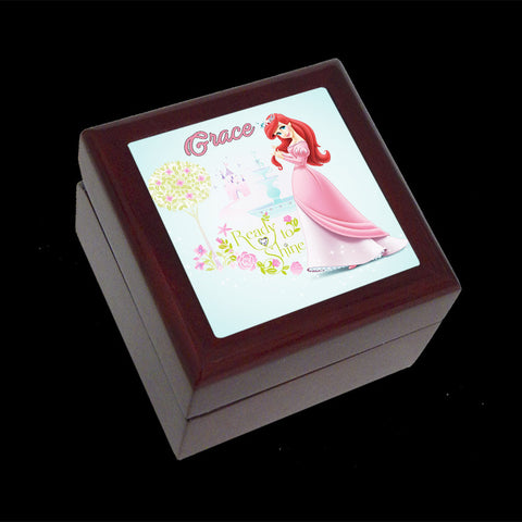 Belle Disney Princess jewellery box, ring box personalised
