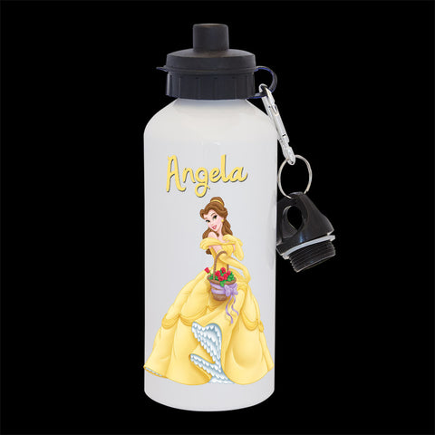 Personalised Belle Water Bottle, Disney Princess Belle Drink Bottle