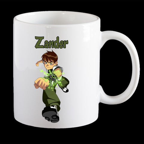Personalised Ben 10 Coffee Mug, Ben 10 kids personalised cup