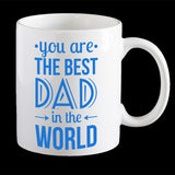 Best Dad in the World Father's Day Mug, Personalised Father's Day Mug, Dad Mug