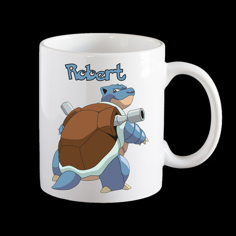 Personalised Pokemon Blastoise Coffee Mug