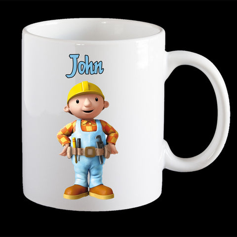 Personalised Bob the Builder Coffee Mug, Bob the Builder kids personalised cup