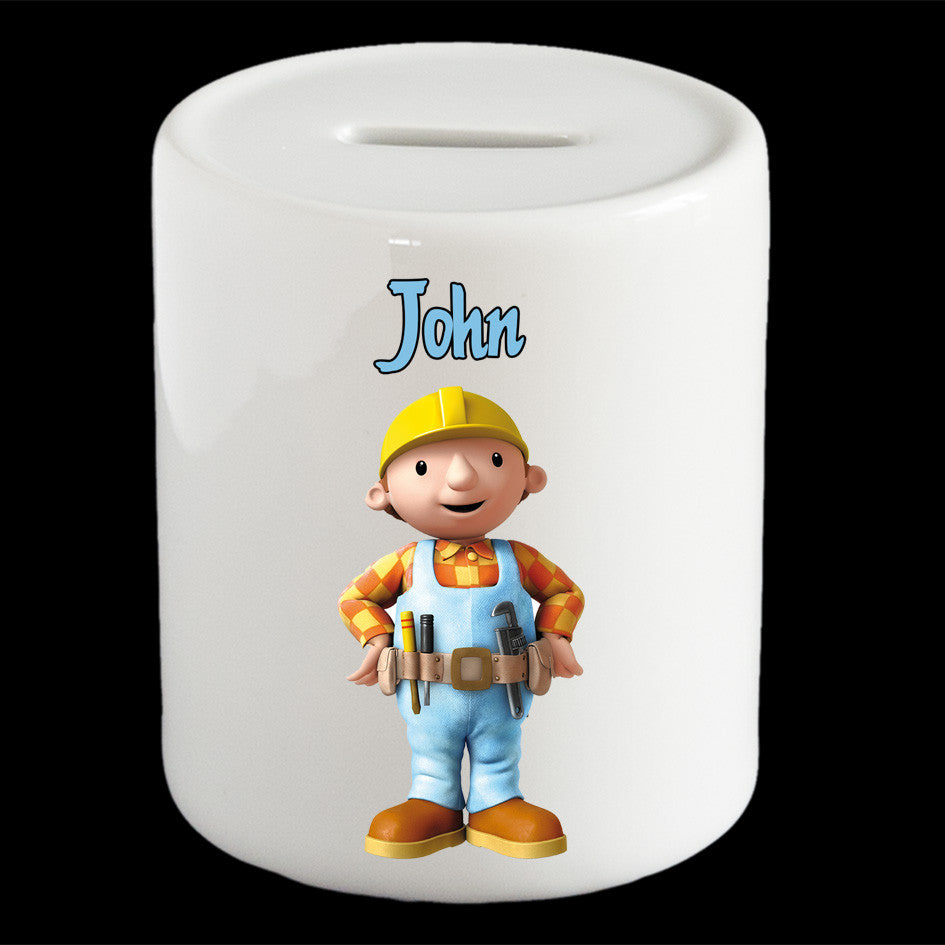 Personalised Bob the Builder money box, Bob the Builder piggy bank