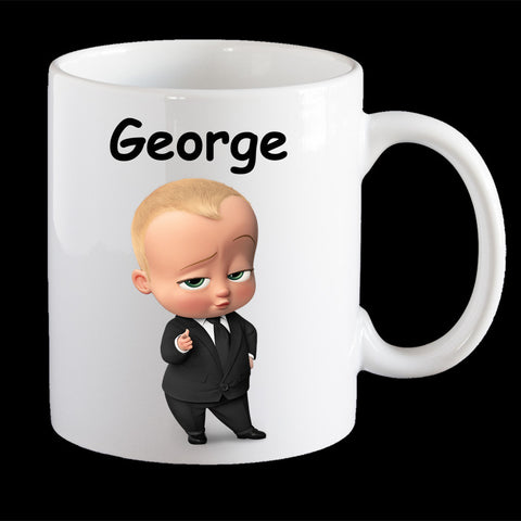 Personalised Boss Baby Coffee Mug, Boss Baby kids personalised cup