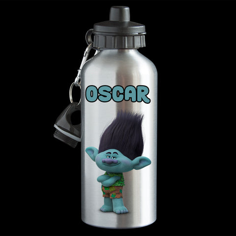 Personalised Branch Trolls movie Water Bottle, Trolls Branch drink bottle