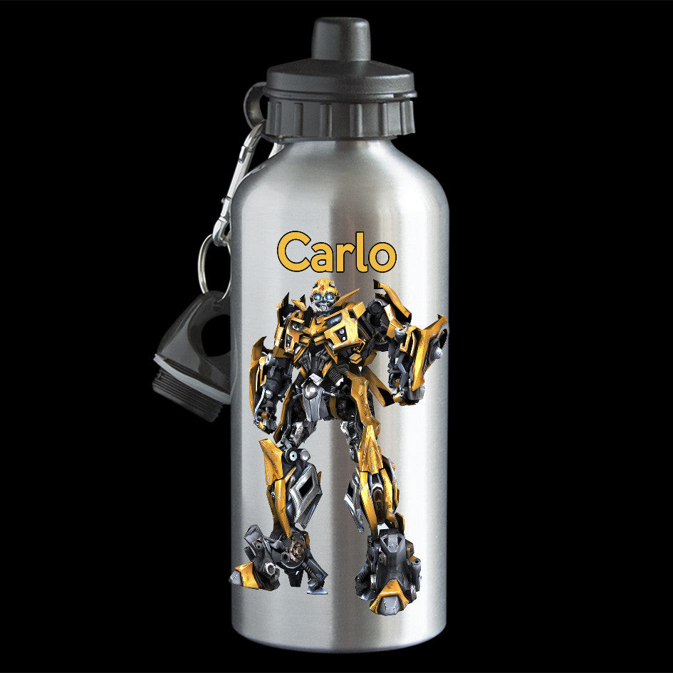 Personalised Bumblebee Transformers water bottle