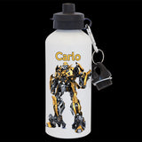 Personalised Bumblebee Transformers Water Bottle, Bumblebee drink bottle