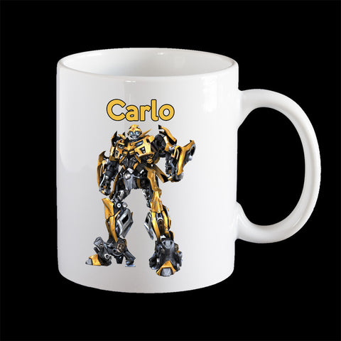 Personalised Bumblebee Coffee Mug, Transformers Autobot Mug