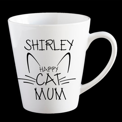 Personalised Cat Mum Coffee Mug, Funny Cat Mug
