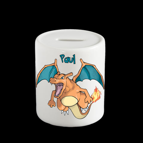 Charizard Pokemon piggy bank