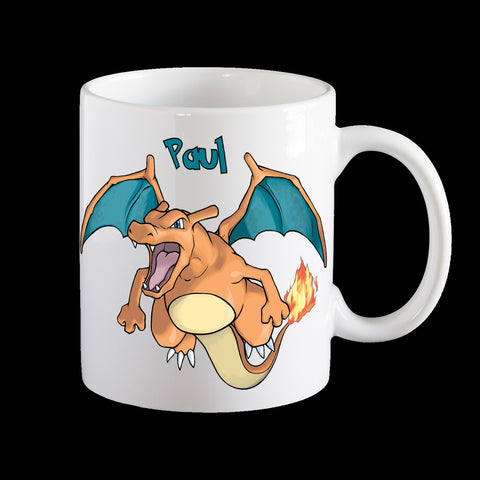 Personalised Pokemon Charizard Coffee Mug