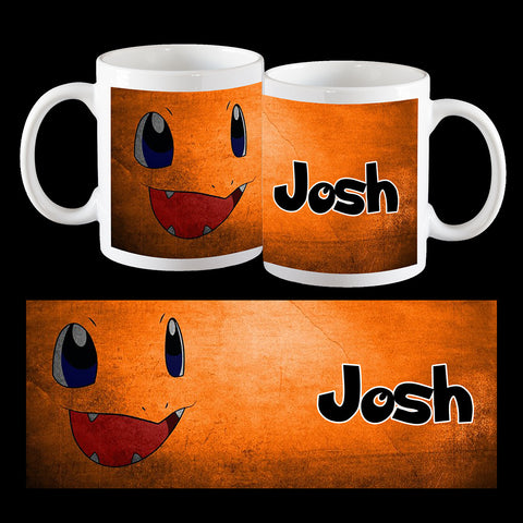Personalised Charmander Mug, Pokemon mug