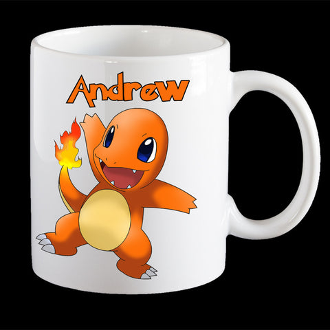 Personalised Pokemon Charmander Coffee Mug