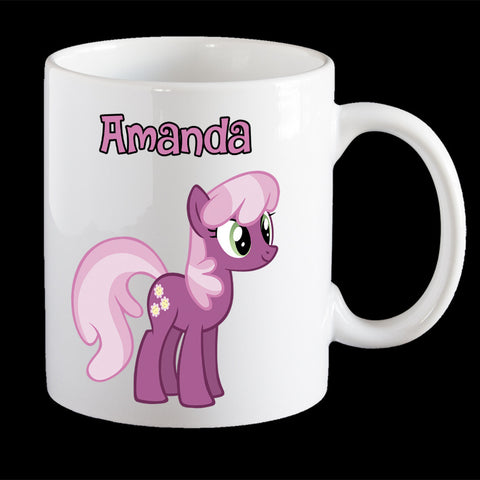 Personalised Cherilee coffee mug, Little Pony Cherilee kids plastic mug
