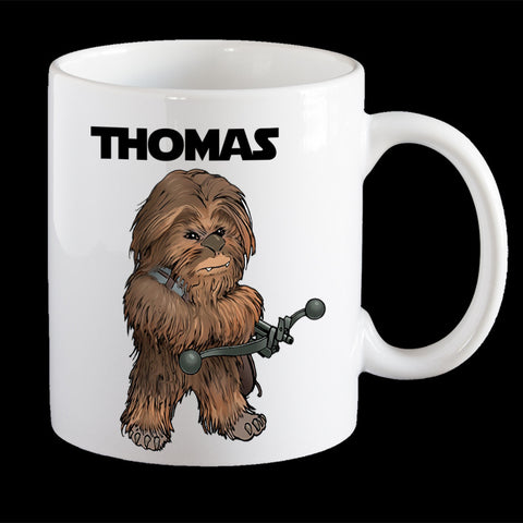 Personalised Chewbacca Star Wars Coffee Mug, Chewie Plastic Mug