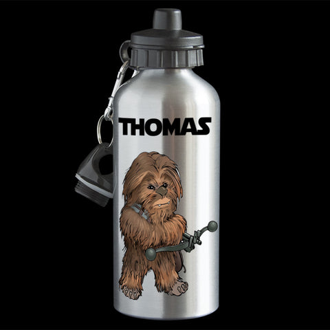 Personalised Chewbacca Star Wars Water Bottle, Chewbacca drink bottle