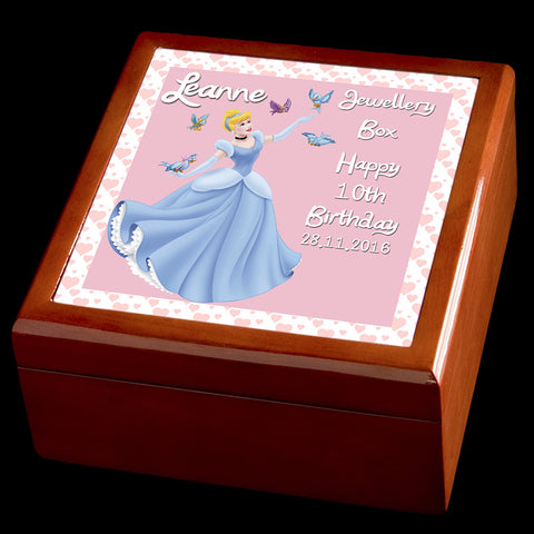 Cinderella Personalised jewellery box