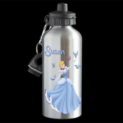 Personalised Cinderella Water Bottle, Disney Princess Cinderella Drink Bottle