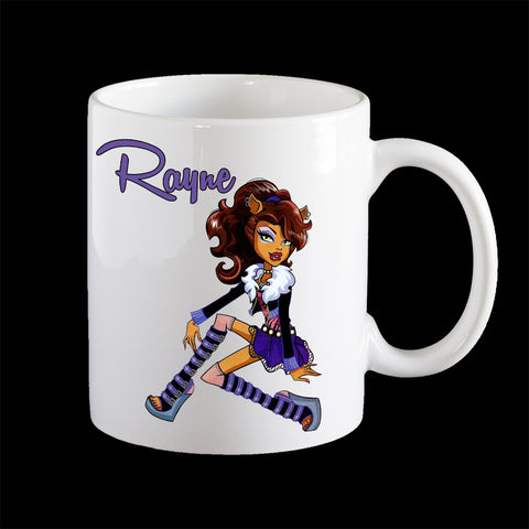 Personalised Clawdeen Monster High Coffee Mug