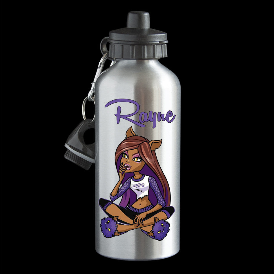 Personalised Clawdeen Water Bottle, Monster High Clawdeen Drink Bottle