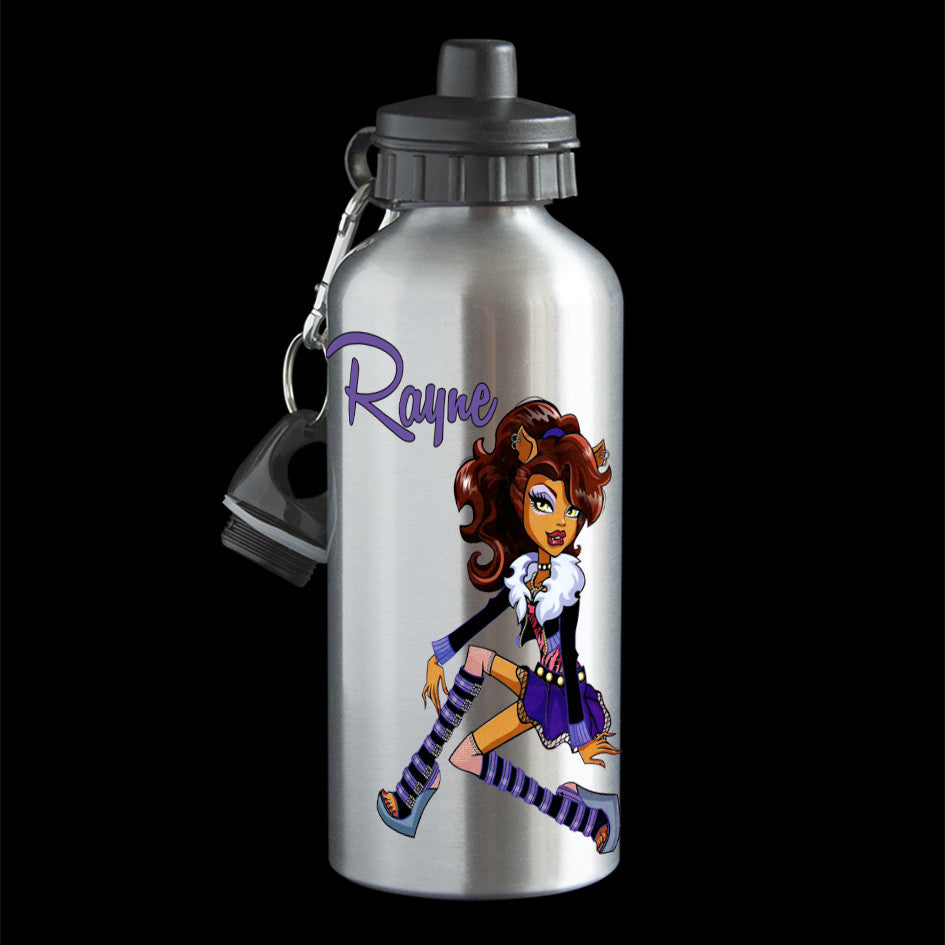 Personalised Clawdeen Wolf Water Bottle, Monster High Clawdeen Wolf Drink Bottle