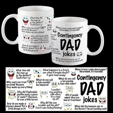 Dad Joke Mug, Contingency Dad joke mug