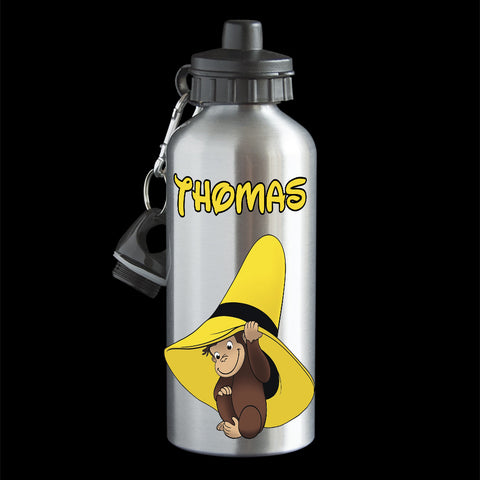 Personalised Curious George Water Bottle, drink bottle