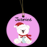 Personalised ceramic Chirstmas tree ornament