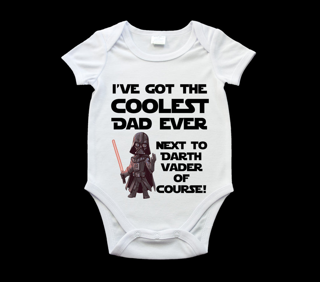 Funny Father's Day Darth Vader baby onsie, romper suit, Baby one piece, Star Wars