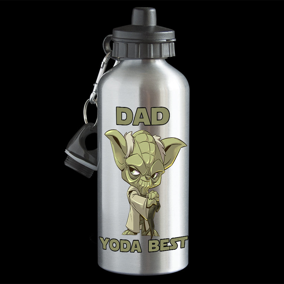 Funny Father's Day Water Bottle, Dad Yoda Best Father's Day water bottle