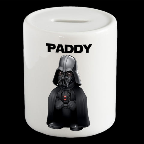 Personalised Darth Vader piggy bank, Star Wars Darth Vader money bank